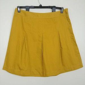 NWT Merona Cotton A-Line Skirt Side Zip 18 #3219